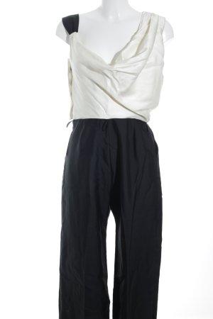 Reiss Jumpsuit creme-schwarz Dandy-Look