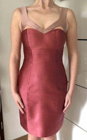 Reiss Kleid Gr. 34 NP 289€ Rosé Altrosa Satin Spitze