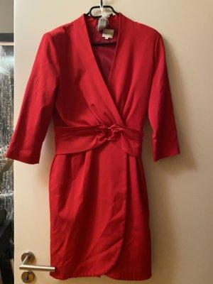 Reiss Kleid Wickelkleid rot M 38
