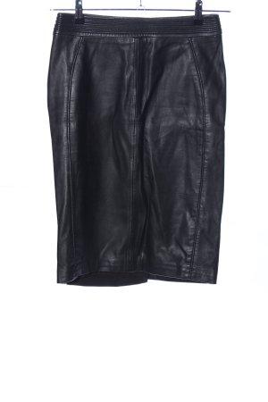 Reiss Kunstlederrock schwarz Casual-Look