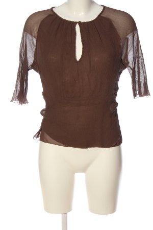 Reiss Short Sleeved Blouse brown elegant