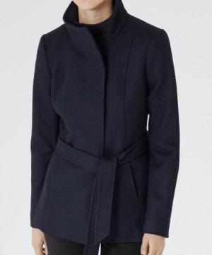 Reiss Hooded Coat dark blue