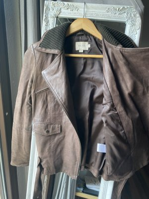 Reiss Leather Jacket multicolored