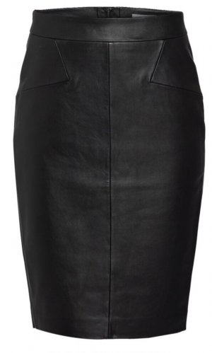 Reiss Faux Leather Skirt black leather