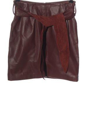 Reiss Leather Skirt red elegant