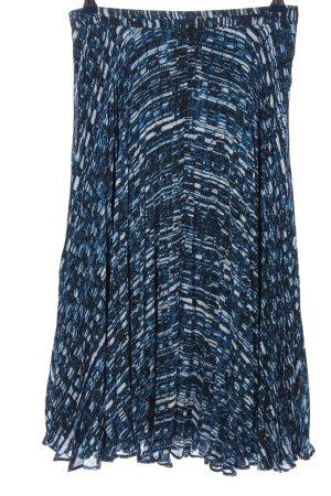 Reiss Midirock blau-weiß abstraktes Muster Casual-Look