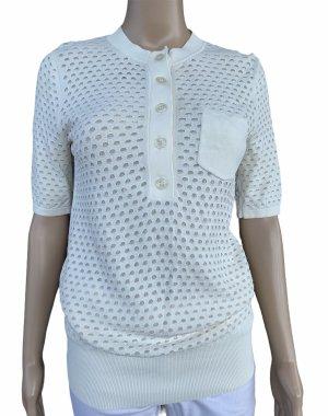 Reiss Short Sleeved Blouse white