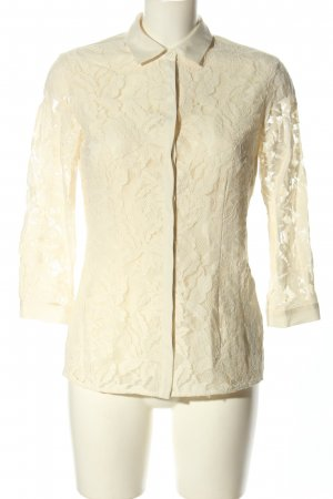 Reiss Blusa in merletto bianco sporco stile casual