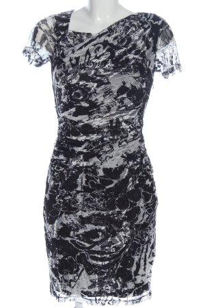 Reiss Lace Dress black-light grey abstract pattern elegant