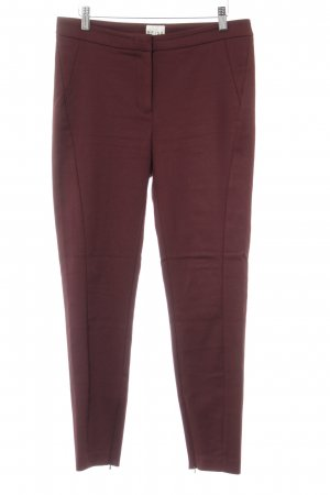 Reiss Stretchhose bordeauxrot Casual-Look