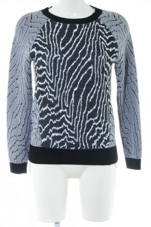 Reiss Strickpullover weiß-hellgrau abstraktes Muster Casual-Look