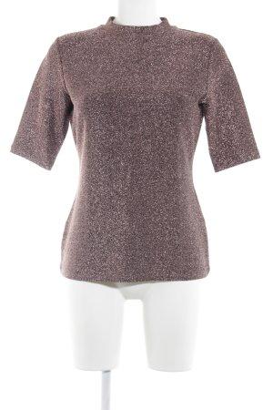 Reiss T-Shirt roségoldfarben Glitzer-Optik