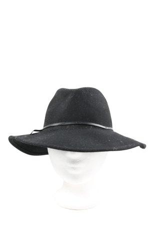 Reiss Sombrero de lana negro look casual