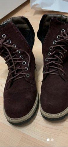 Deichmann Halfhoge laarzen bordeaux