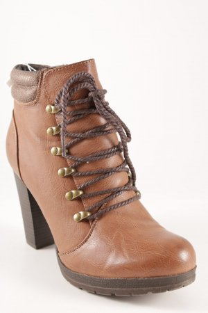 Reißverschluss-Stiefeletten mehrfarbig Casual-Look