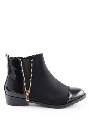 Reißverschluss-Stiefeletten schwarz Elegant