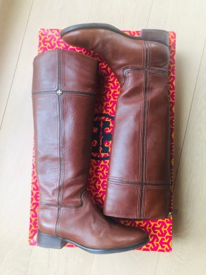 Tory Burch Riding Boots brown leather