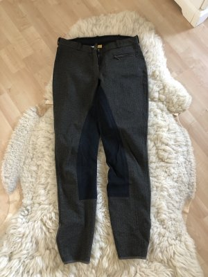 Jeansy typu biker czarny-khaki