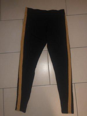 H&M Pantalone da equitazione nero-arancione