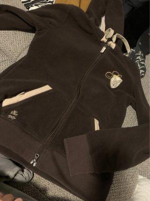 Steeds Capuchon vest lichtbruin-donkerbruin