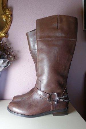 Reiterstiefel, Stiefel, Ralph Lauren, ungetragen, Leder, Country, Kettendetail