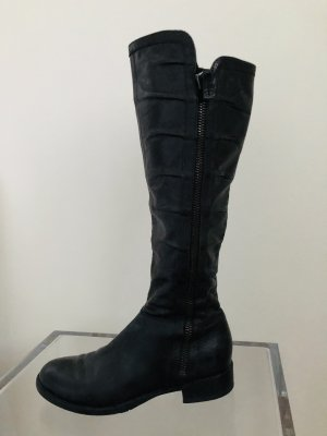Janet & Janet Riding Boots black leather