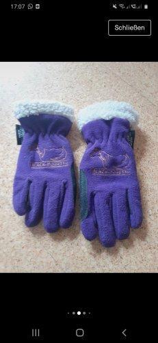 Padded Gloves black-lilac