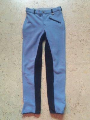 Pantalone da equitazione blu fiordaliso-nero Poliestere