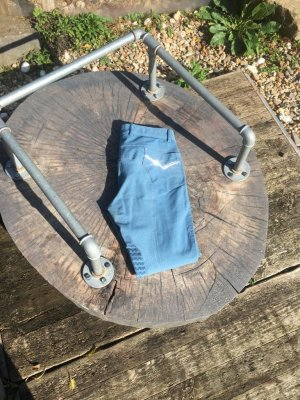 Pantalone da equitazione azzurro-blu neon