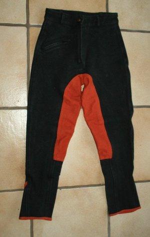 Reithose Vollbesatz orange schwarz Gr. XS