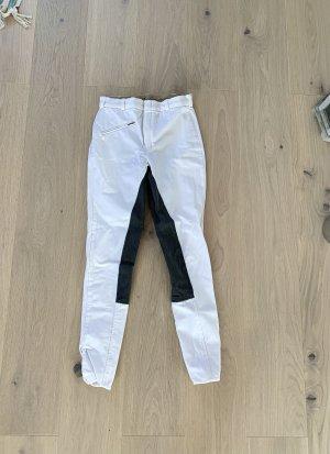 Loesdau Pantalon d'équitation blanc-gris anthracite