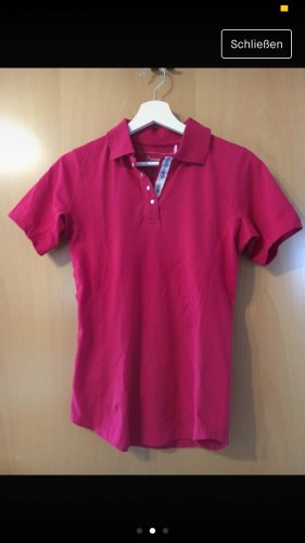 Cavallo Polo Shirt raspberry-red-white cotton