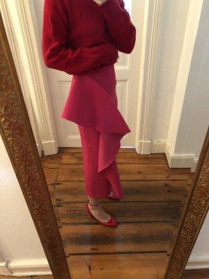 Flounce Skirt magenta cotton