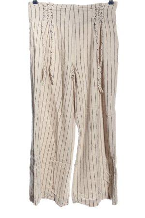Reken Maar Pantalone largo bianco sporco-nero stampa integrale stile casual
