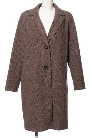 Reken Maar Heavy Pea Coat brown flecked casual look