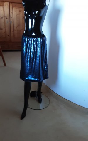 Reken Maar Spódnica w kształcie tulipana ciemnoniebieski