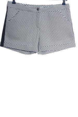 Reken Maar Pantaloncino a vita alta nero-bianco stampa integrale stile casual