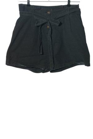 Reken Maar High waist short zwart casual uitstraling