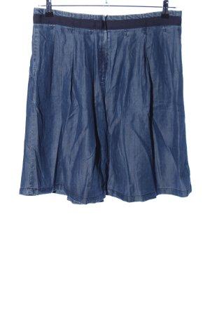 Reken Maar Falda vaqueras azul moteado look casual