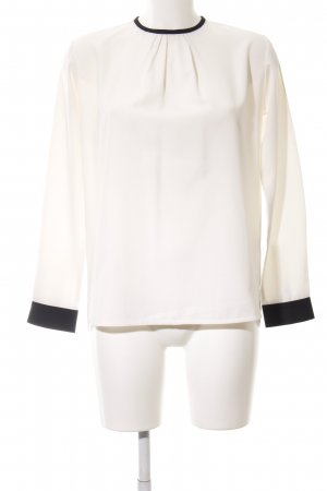 Reken Maar Camicetta a maniche lunghe bianco sporco-nero stile professionale