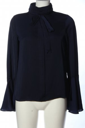 Reken Maar Langarm-Bluse blau Business-Look