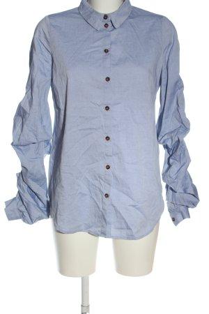 Reken Maar Camicia a maniche lunghe blu stile casual