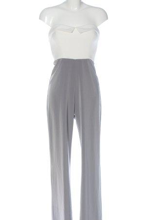 Reken Maar Langer Jumpsuit bianco-grigio chiaro elegante