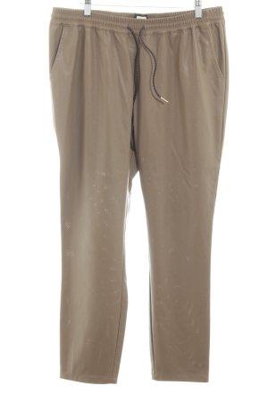 Reken Maar Pantalone in pelle oro-color carne stile casual