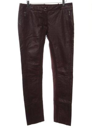 Reken Maar Pantalon en cuir bordeau style festif