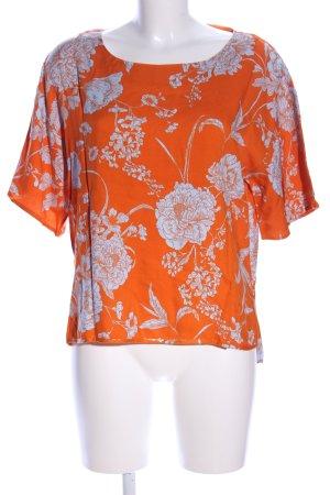 Reken Maar Blusa taglie forti arancione chiaro-bianco stampa integrale