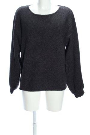 Reken Maar Oversized Pullover schwarz Casual-Look