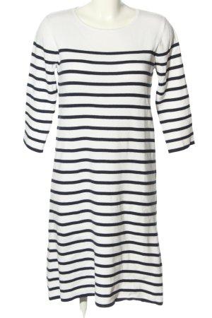 Reken Maar Sweater Dress white-blue allover print casual look