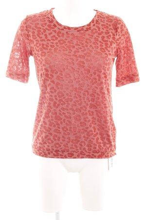 Reken Maar T-shirt rosso-arancione chiaro stampa integrale stile casual