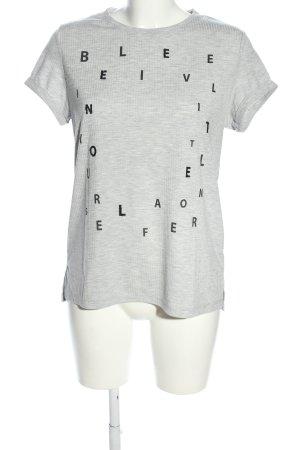 Reken Maar T-shirt grigio chiaro-nero puntinato stile casual